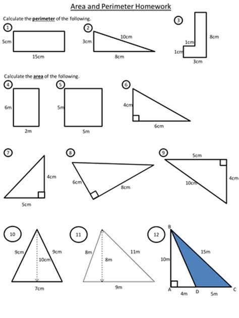 perimeter and area worksheets ks3 area and perimeter by dannytheref uk teaching resources tes