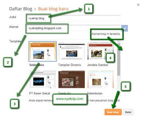 tips membuat nama online shop cara mendaftar blogspot blogger welcome to aruanblog