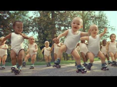 World Record For With The Most Births Most Viewed Ad Evian Roller Babies Set World Record