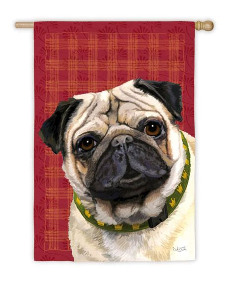 pug garden flags pug fawn house garden flag decorative 12 5 quot x 18 quot