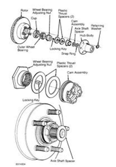 1994 ford ranger auto locking hubs: drive train axles