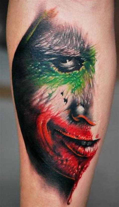 joker face tattoo designs color joker face tattoo design tattoos book 65 000