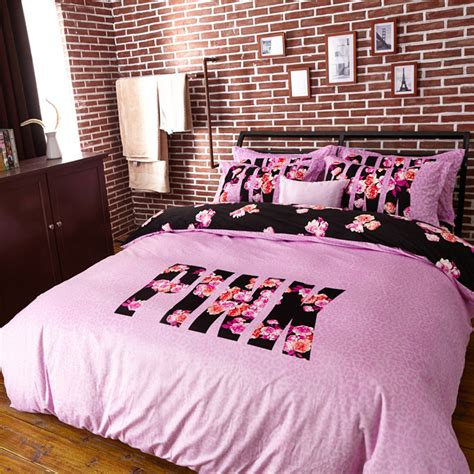 victoria secret bedding queen pink 4 piece duvet cover king size bedding set just pink