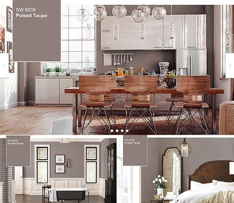 poised taupe sherwin williams color of the year 2017 wpl interior design