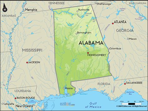 alabama map in usa detailed clear large road map of alabama topography and