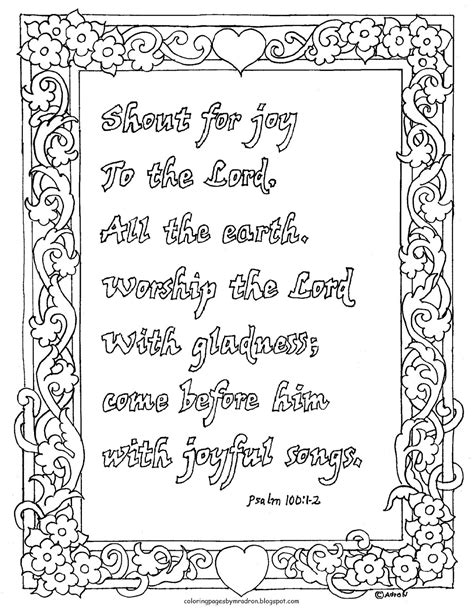 Coloring Pages For Kids By Mr Adron Coloring Page Psalm Coloring Pages 8 1 2 X 11