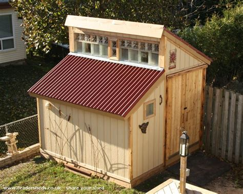 daves ode  glass block shed unexpected  backyard owned  lynne hanson shedoftheyear