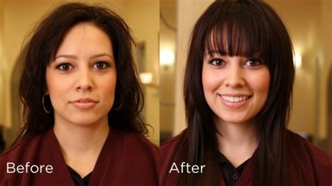 people who look better with bangs hair makeover bangs theses people all look so much better