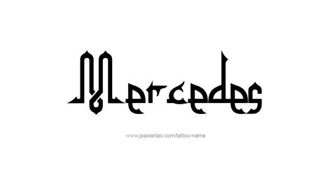 mercedes tattoo mercedes name designs