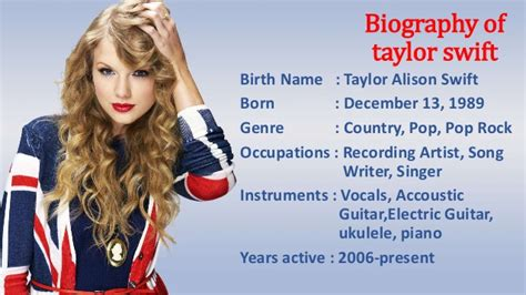 biography taylor alison swift biography of taylor swift