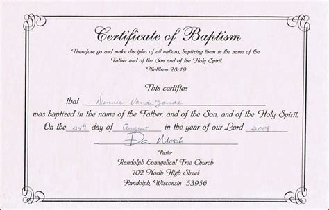 Baptism Card Templates Free by Baptism Certificate Templates For Word Aspects Of