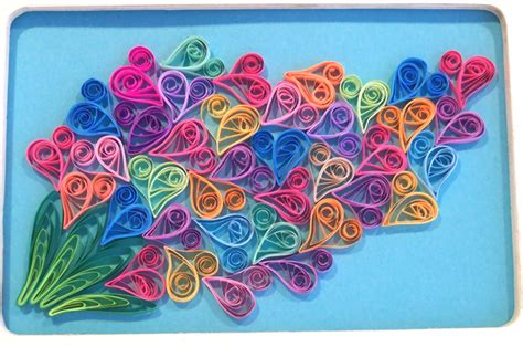 Craft Paper Design - paper quilling framed quilled paper quilling and