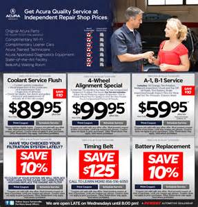 Acura Coupons Acura Turnersville New Acura Dealership In Turnersville