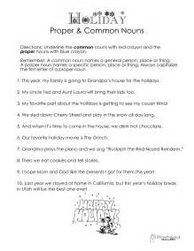common and proper nouns worksheet reading worksheets