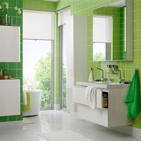 Green And White Bathroom by Bathroom Furniture Bathroom Ideas Ikea
