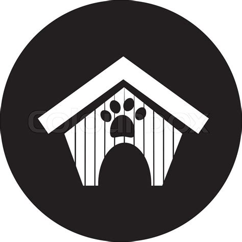 dog house silhouette dog house icon stock vector colourbox