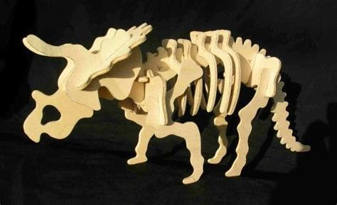 How To Make A 3d Dinosaur Out Of Paper - papermau make a triceratops skeleton cardboard puzzle