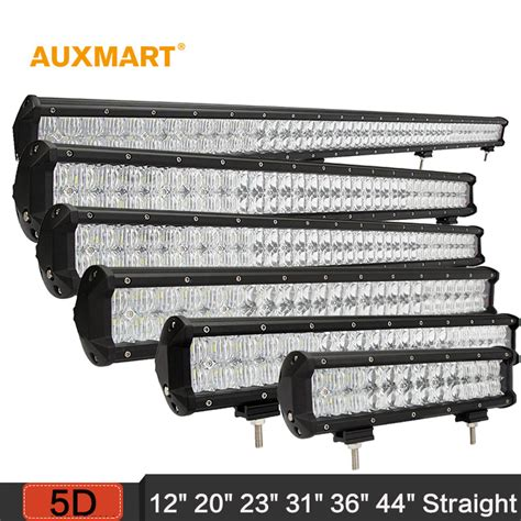 36 led light bar auxmart 5d 12 quot 20 quot 23 quot 31 quot 36 quot 44 quot led light bar offroad