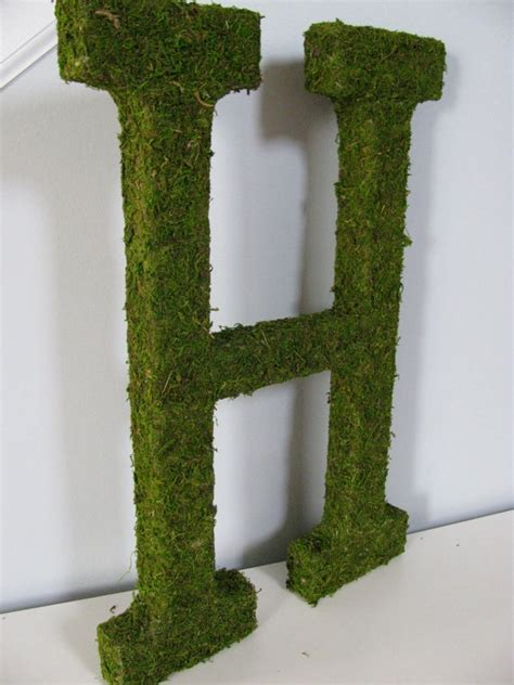 moss covered letters moss covered letters now i can do that