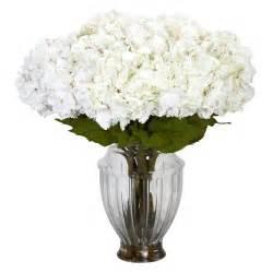 large white hydrangea centerpiece silk flower arrangements