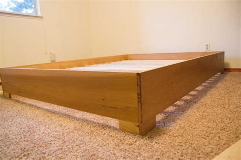 Wooden Box Bed Frame Builders Showcase West Elm Inspired Bed Frame The Design Confidential