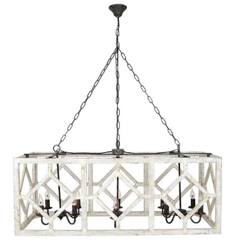 geometric rectangle chandelier  white modern