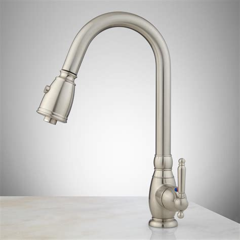 one hole kitchen faucets caulfield single hole pull down kitchen faucet kitchen