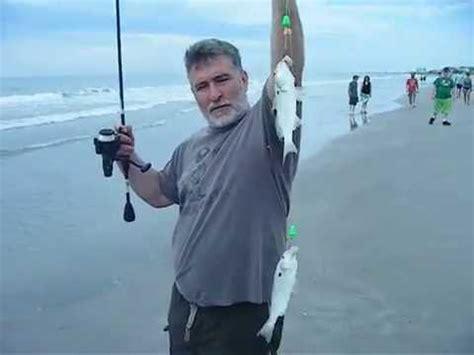 fishing 2 fish at once cocoa beach florida surf fishing