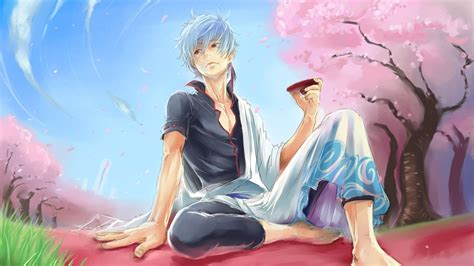 sakata gintoki hd wallpaper background image  id wallpaper abyss