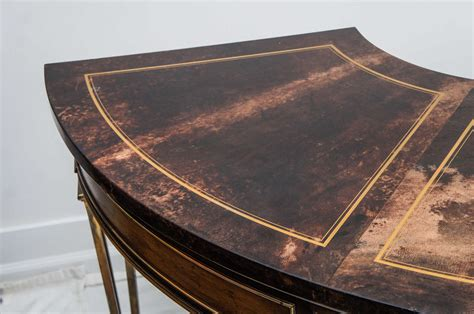 Surround Desk by Brass Mastercraft Demilune Desk With A Custom Dyed