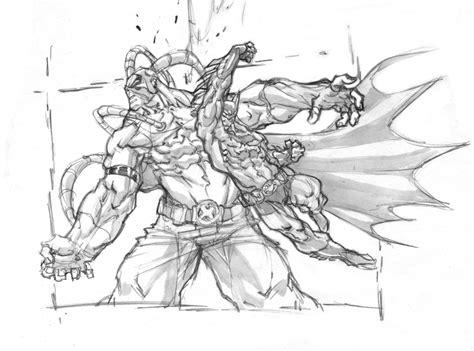 sketchbook vs sketchpad batman vs bane fast sketch by darnof on deviantart
