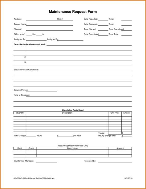 letter request form 7 maintenance request form templatereference letters