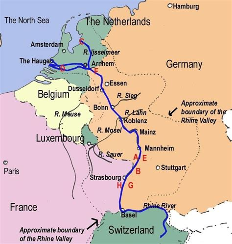 netherlands castles map rhine river in germany cruised this with my