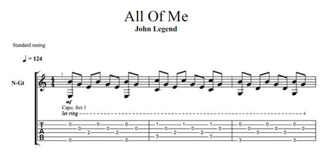 tutorial fingerstyle all of me free guitar tabs