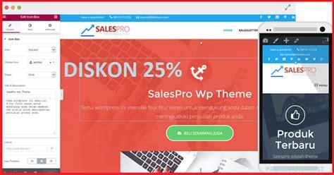 keuntungan membuat website dengan wordpress diskon 25 salespro wordpress theme all in one premium theme