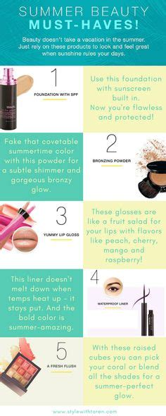 Your Summer Makeup Must Haves For 08 by 1000 Images About Style With Taren Posts On