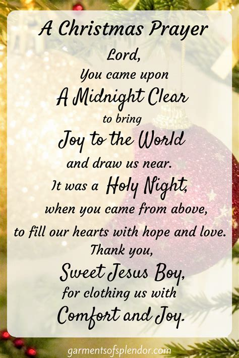 share this prayer of our savior s love this holiday season