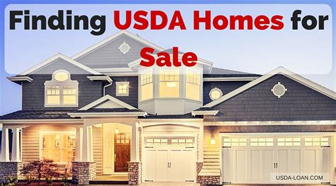 finding usda homes for sale usda loan