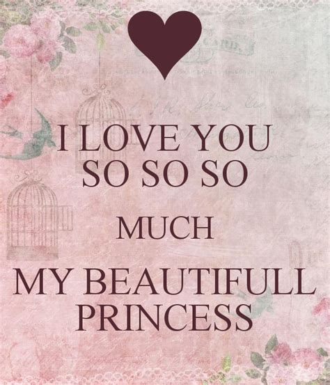 images of love you so much i love you so so so much my beautifull princess poster