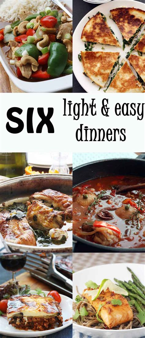 easy light dinner ideas light easy meals recipes food recipes here
