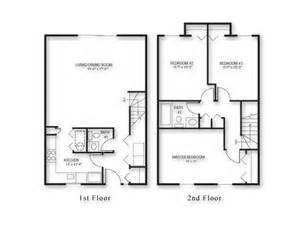 3 Bedroom Townhouse Plans by 3 Bedroom Townhouse Floor Plans Galleryhip Com The