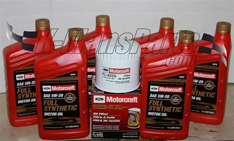 ford synthetic change motorcraft 6qt 5w 20 synthetic change kit 4 6