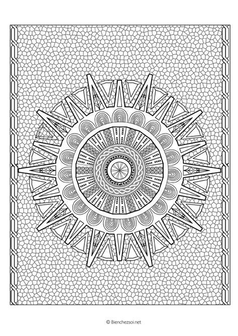 Coloriage mandala machu pichu, dessin anti-stress gratuit