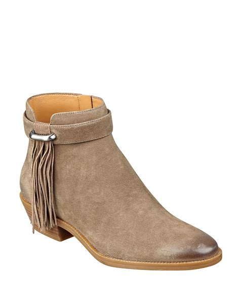 west boots nine west willito ankle boots in brown lyst
