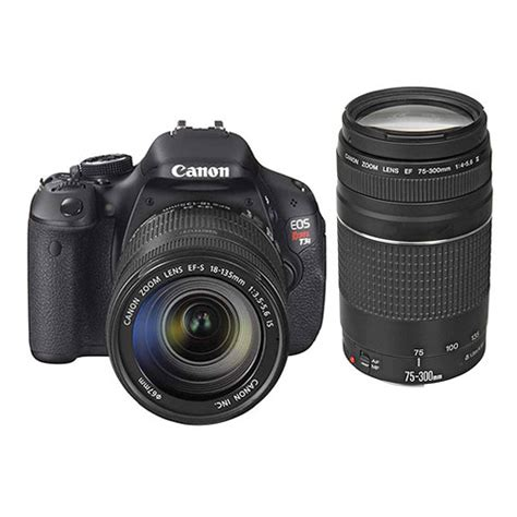 canon eos rebel t3i dslr canon eos rebel t3i dslr with 18 135mm and 75 300mm
