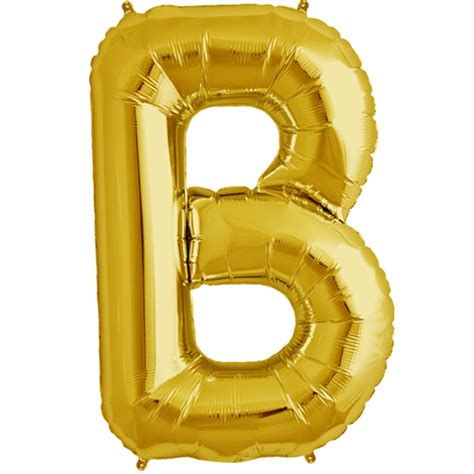 34 quot gold letter b foil balloon