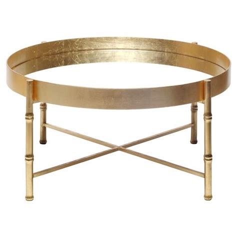 Gold Bamboo Coffee Table Arceli Bazaar Gold Bamboo Mirror Coffee Table Kathy Kuo Home