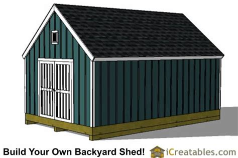 16x24 Shed Plans Free by 16x24 Colonial Style Shed Plans