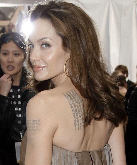 angelina jolie tattoo daily mail angelina jolie has even more tattoos for racy new film