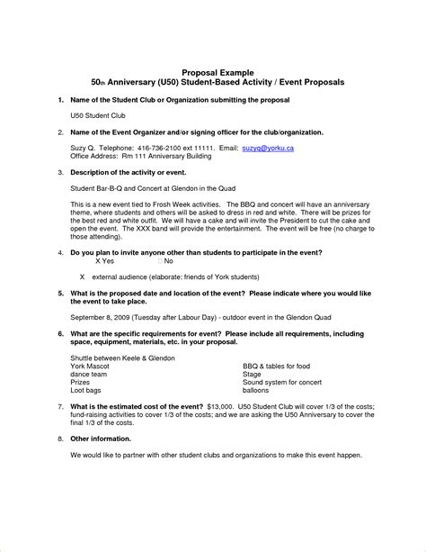 8 exle proposal procedure template sle